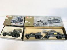 Corgi Classics US Army Diamond T tank transporter and T wrecker; M60 tank