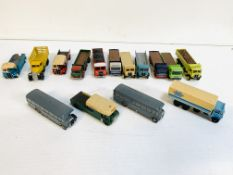 Fifteen diecast model lorries and coaches