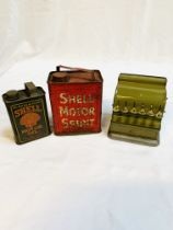 A collection of tin plate toys