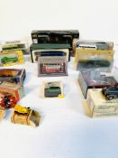 A collection of fourteen model vehicles