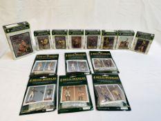 A quantity of metal figurines