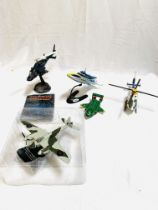 Collection of diecast model aircraft