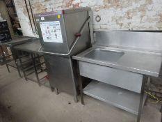 Maidaid halcyon RU81CRPBUT dishwasher with tray table & sink