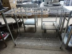 Two tier wire rack