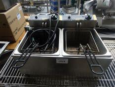 Buffalo twin fryer 240v