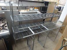 Three tier wire rack