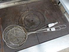 Three long handled sieves