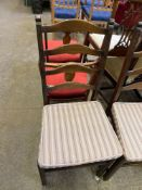 Six Ercol dining chairs