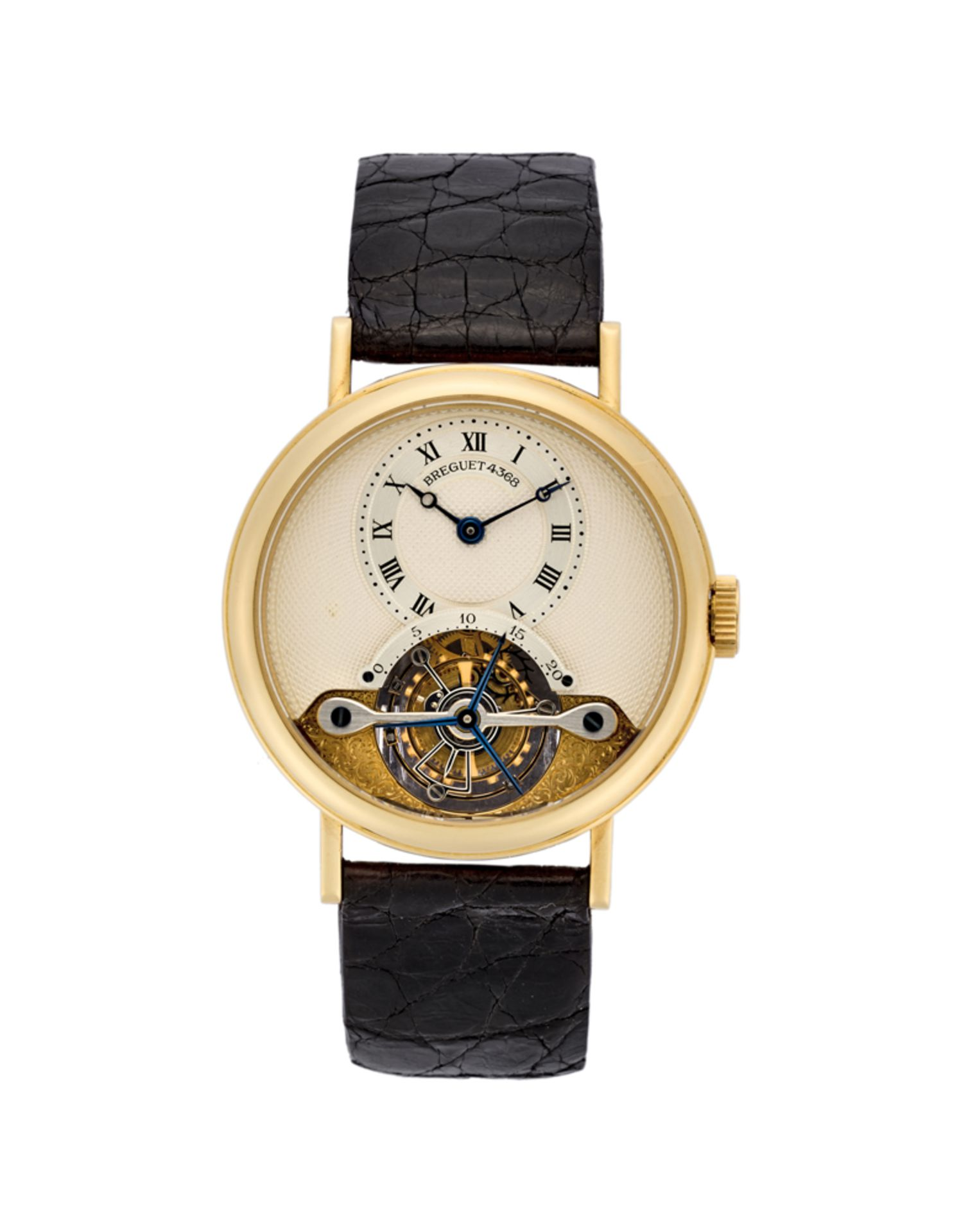 BREGUETGent's 18K gold wristwatch1990sDial, movement and case signedManual wind movement with