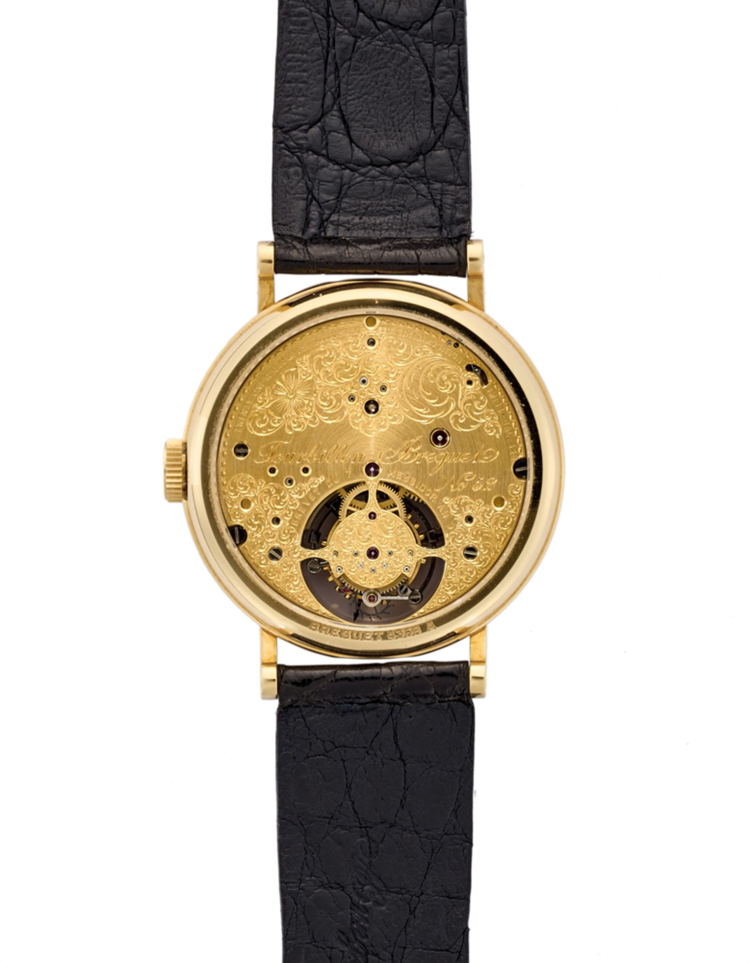 BREGUETGent's 18K gold wristwatch1990sDial, movement and case signedManual wind movement with - Image 2 of 2
