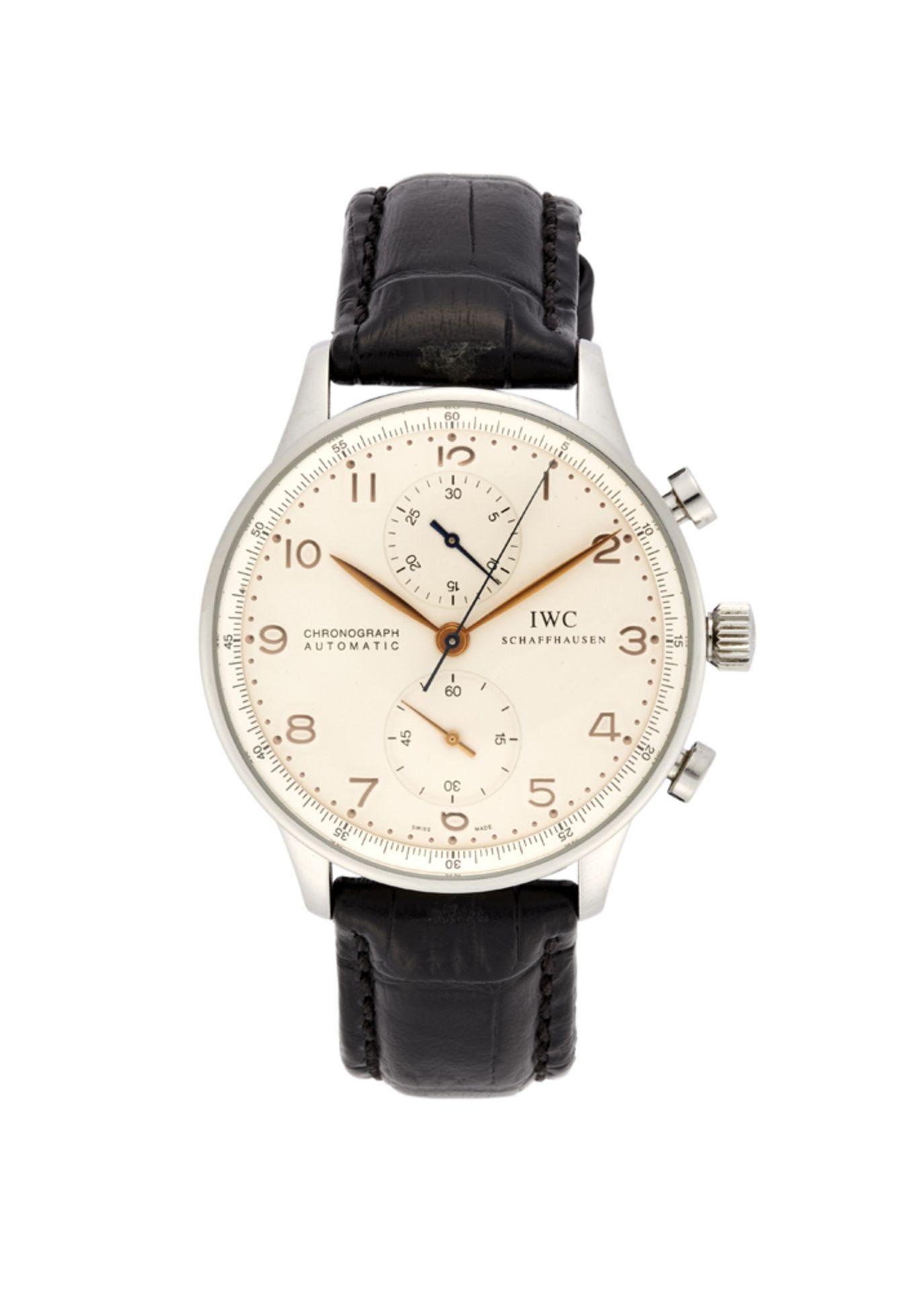 IWC PORTOGHESEGent's steel wristwatch2000sDial, movement and case signedAutomatic movementSilvered