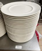 25 x VILLEROY & BOCH Premium Porcelain Fine Dining Restaurant 28.5cm Round Main Course Plates - Ref: