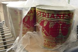 5 x Large Catering Tins Of Tomatoes - Ref: CAM598 - CL612 - Location: London SW1PThis item is to