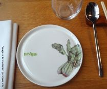 50 x BIBIGO Branded Fine Dining Plates - 16.5cm - Pre-owned, From A London Restaurant - Ref: WH1