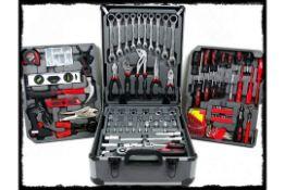 1 x Muller Kraft 186 Piece Tool Kit With Alutrolley Tool Case - Chrome Vanadium Steel Universal Tool