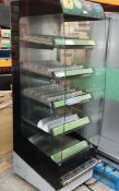 1 x Frijado Multi Deck 60 5 Level Heated Grab and Go Display Warmer - 400v 3 Phase - H197 x W60 x