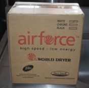 1 x Air Force High Speed Low Energy Electric Hand Dryer - Mode J48-974W3 - Brand New and Boxed -