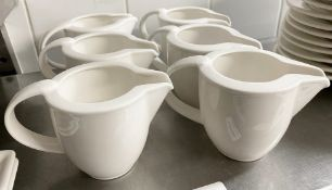 6 x VILLEROY & BOCH Premium Porcelain Fine Dining Restaurant Milk Jugs - Ref: CAM686 - CL612 -