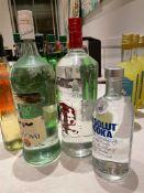 3 x Assorted Bottles Of Spirits - Lot Includes: 1 x BACARDI, 1 x ABSOLUTE VODKA, 1 x SMIRNOFF