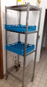1 x Stainless Steel Commercial 3-Tier Trolley And Trays - Recently Removed From A Leading Patisserie
