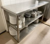 1 x Stainless Steel Commercial Kitchen Prep Table - Dimensions: 130 x 50 x h81cm - Ref: CAM610 -