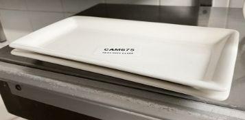 2 x VILLEROY & BOCH Premium Porcelain Fine Dining Restaurant Rectangular Plates - Dimensions: