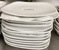 12 x John Lewis 16cm Square Porcelain Fine Dining Side Plates - Ref: CAM667 - CL612 - Location:
