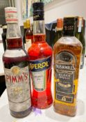 3 x Assorted Bottles Of SpIrit / Liqueur - Lot Includes 1 x BUSHMILLS IRISH WHISKY, 1 x PIMMS No.1