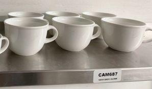 6 x VILLEROY & BOCH Premium Porcelain Fine Dining Restaurant Large Espresso Cups - Ref: CAM687 -