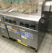 1 x Frymaster H55 Commercial Twin Tank Gas Fryer - 230v G20 - Model FPPH255SC - Size H116 x W80 x