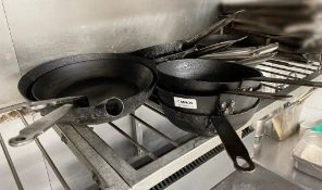16 x Assorted Commercial Cooking Pans In Various Sizes - Supplied As Pictured - Ref: CAM635 -