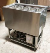 1 x Williams Refrigerated Counter Prep Well With Gastro Pans and Stainless Steel Finish - 240v UK