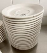 20 x VILLEROY & BOCH Premium Porcelain Fine Dining Restaurant 15cm Round Cup Saucers - Ref: CAM682 -
