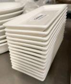 14 x RAK Porcelain Fine Dining Restaurant Hors D'oeuvre Plates - Dimensions: 17.5 x 7cm - Ref: