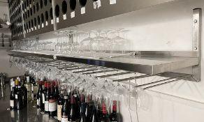 1 x Commercial 30-Neck Wine Rack With Upper Shelves *Includes Glasses, Read Full Description* Ref: