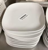 11 x John Lewis 16cm Square Porcelain Fine Dining Side Plates - Ref: CAM666 - CL612 - Location: