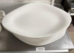 12 x VILLEROY & BOCH Premium Porcelain Large Fine Dining Restaurant Oval Dishes - 35.5cm Long - Ref: