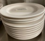 11 x VILLEROY & BOCH Premium Porcelain Fine Dining Restaurant 16cm Round Roll Plates - Ref: CAM681 -