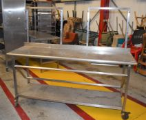 1 x Stainless Steel Prep Bench For Baguette Preparation - Width 180 x Depth 60 cms - CL626 - Ref