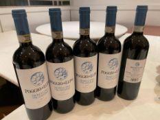 5 x Bottles Of POGGIA AL LUPO MORELLINO D'SCARISANO - 2017 - 750ml - New/Unopened Restaurant Stock