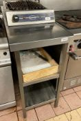 1 x Stainless Steel Prep Bench With Upstand And Undershelves - Dimensions: 98 x 46 x h90cm