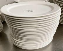 23 x VILLEROY & BOCH Premium Porcelain Large Fine Dining Restaurant Oval Starter Plates - 27.5cm