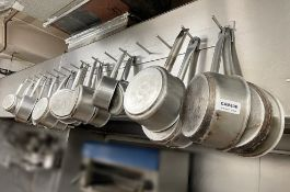 1 x Commercial 16-Hook Utensil Rack With 19 x Pots In Various Sizes - Ref: CAM636 - CL612 -