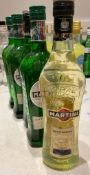 5 x Bottles Of MARTINI - Lot Includes 4 x Extra Dry + 1 x Bianco - New/Unopened Restaurant Stock -
