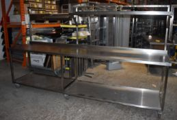 1 x Stainless Steel Donut Jamming Bench - H87/167 x W300 x D70 cms - Recently Removed From Major