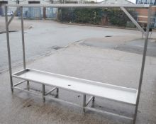 1 x Stainless Steel Wet Fish Drip Tray - Dimensions: H169 x W240 x D50cm - Very Recently Removed