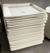 28 x VILLEROY & BOCH Premium Porcelain Fine Dining Restaurant Square Main Course Plates -
