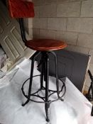 1 x Reproduction Vintage Industrial Bar Stool - NO VAT ON THE HAMMER - CL607 - Location: Leeds