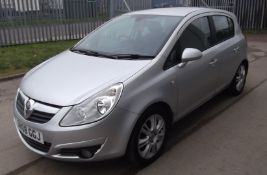 2008 Vauxhall Corsa 1.4 Design 5 Door Hatchback - CL505 - NO VAT ON THE HAMMER - Location: Corby,