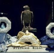 1 x Stefano Ricci Ornamental 1-Metre Tall Eagle Statue - Unique And Beautiful Designer Display Piece